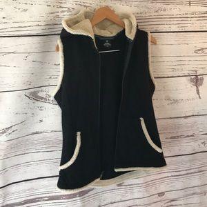 """Kuhl """"alfpaca"""" fleece hooded vest"""